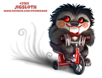 Daily Paint 2169. Jigsloth by Cryptid-Creations