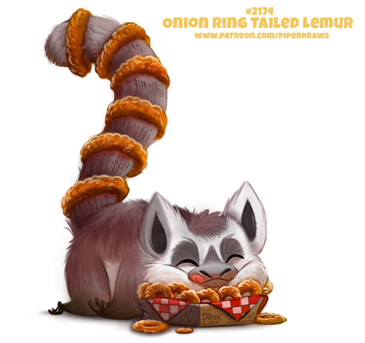 Daily Paint 2174. Onion Ring-tailed Lemur by Cryptid-Creations