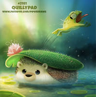 Daily Paint 2181. Quillypad by Cryptid-Creations