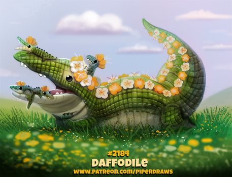 Daily Paint 2184. Daffodile by Cryptid-Creations
