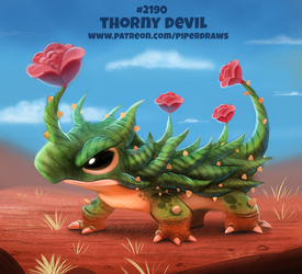 Daily Paint 2190. Thorny Devil by Cryptid-Creations