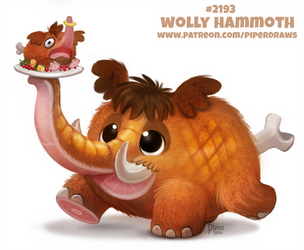 Daily Paint 2193. Woolly Hammoth by Cryptid-Creations