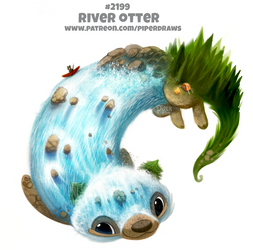 Daily Paint 2199. River Otter by Cryptid-Creations