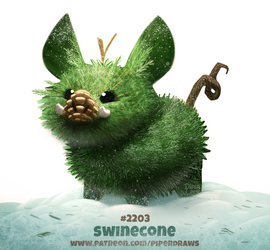 Daily Paint 2203. Swinecone by Cryptid-Creations