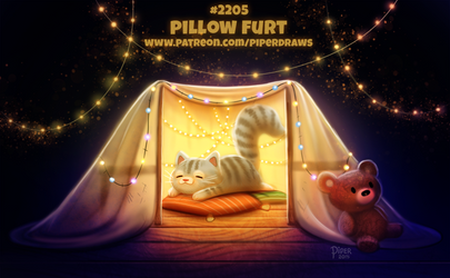 Daily Paint 2205. Pillow Furt by Cryptid-Creations