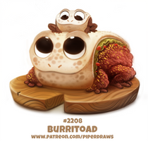 Daily Paint 2208. Burritoad by Cryptid-Creations