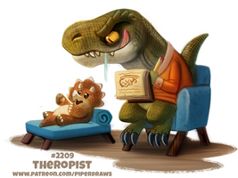 Daily Paint 2209. Theropist by Cryptid-Creations
