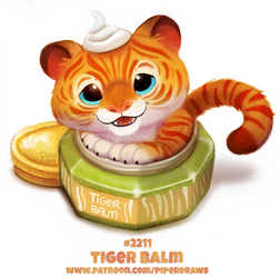 Daily Paint 2211. Tiger Balm by Cryptid-Creations