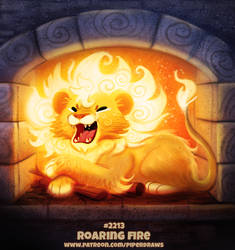 Daily Paint 2213. Roaring Fire by Cryptid-Creations