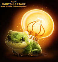 Daily Paint 2214. Lightbulbasaur by Cryptid-Creations