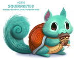 Daily Paint 2216. Squirreltle by Cryptid-Creations