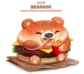 Daily Paint 2227. Bearger by Cryptid-Creations