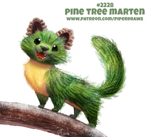 Daily Paint 2228. Pine Tree Marten by Cryptid-Creations