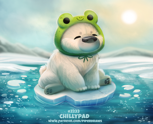 Daily Paint 2233. Chillypad by Cryptid-Creations