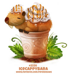 Daily Paint 2238. Icecappybara by Cryptid-Creations