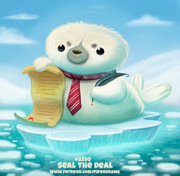 Daily Paint 2250. Seal the Deal by Cryptid-Creations