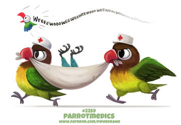 Daily Paint 2259. Parrotmedics by Cryptid-Creations