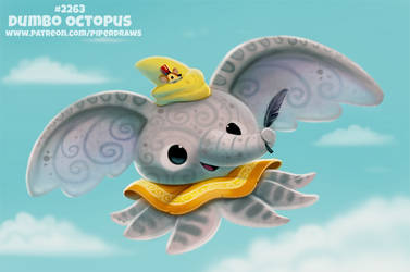 Daily Paint 2263. Dumbo Octopus by Cryptid-Creations