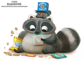 Daily Paint 2266. Slackoon by Cryptid-Creations