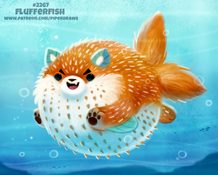 Daily Paint 2267. Flufferfish by Cryptid-Creations