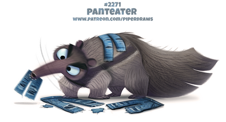 Daily Paint 2271. Panteater by Cryptid-Creations