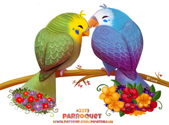 Daily Paint 2273. Parroquet by Cryptid-Creations