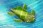 Daily Paint 2274. Shell Phone by Cryptid-Creations