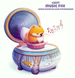 Daily Paint 2277. Music Fox by Cryptid-Creations