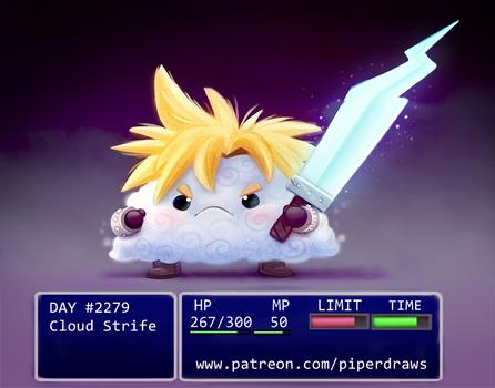 Daily Paint 2279. Cloud Strife by Cryptid-Creations