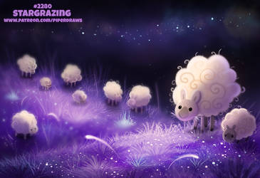 Daily Paint 2281. Stargrazing by Cryptid-Creations