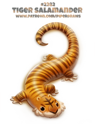 Daily Paint 2282. Tiger Salamander by Cryptid-Creations