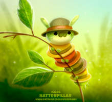 Daily Paint 2286. Hatterpillar by Cryptid-Creations