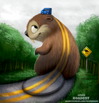 Daily Paint 2289. Roadent by Cryptid-Creations
