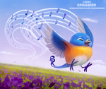 Daily Paint 2290. Songbird by Cryptid-Creations