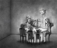 Interior Scene I (pencil) by o0Amphigory0o