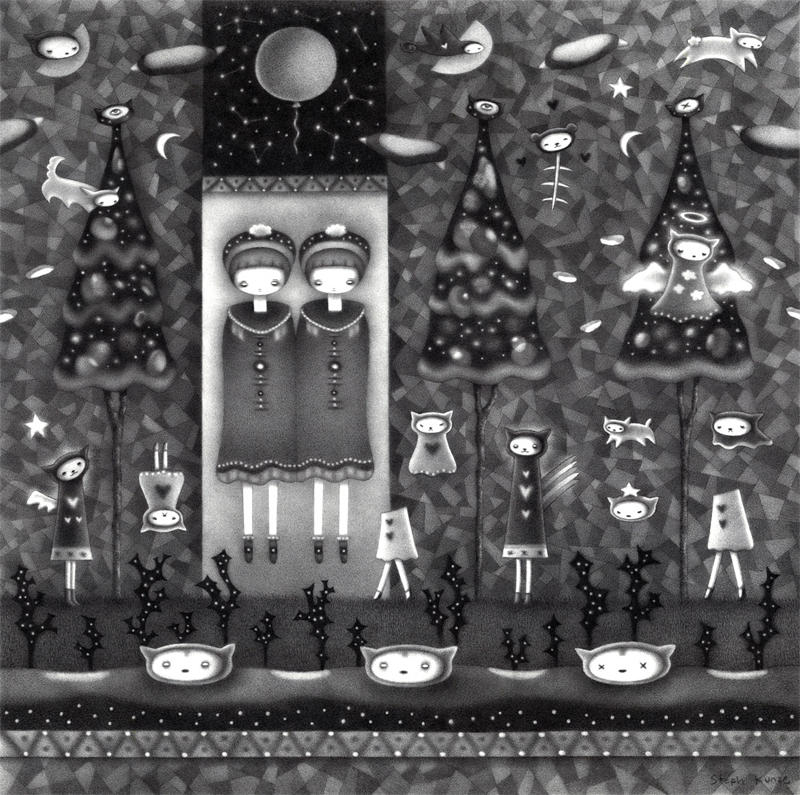 Boreal Sisters (pencil) by o0Amphigory0o