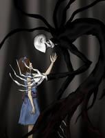 Slenderman and Girl by NinjaDragon3
