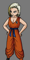 Android 18 Kuririn's Costume by SUPERFERNANDOXT