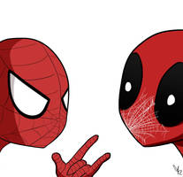 Deadpool and Spiderman by SpidergirlXD