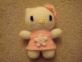 Crochet Hello Kitty Plushie by katrivsor