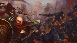 Battle of Mithirl Hall by linweichen