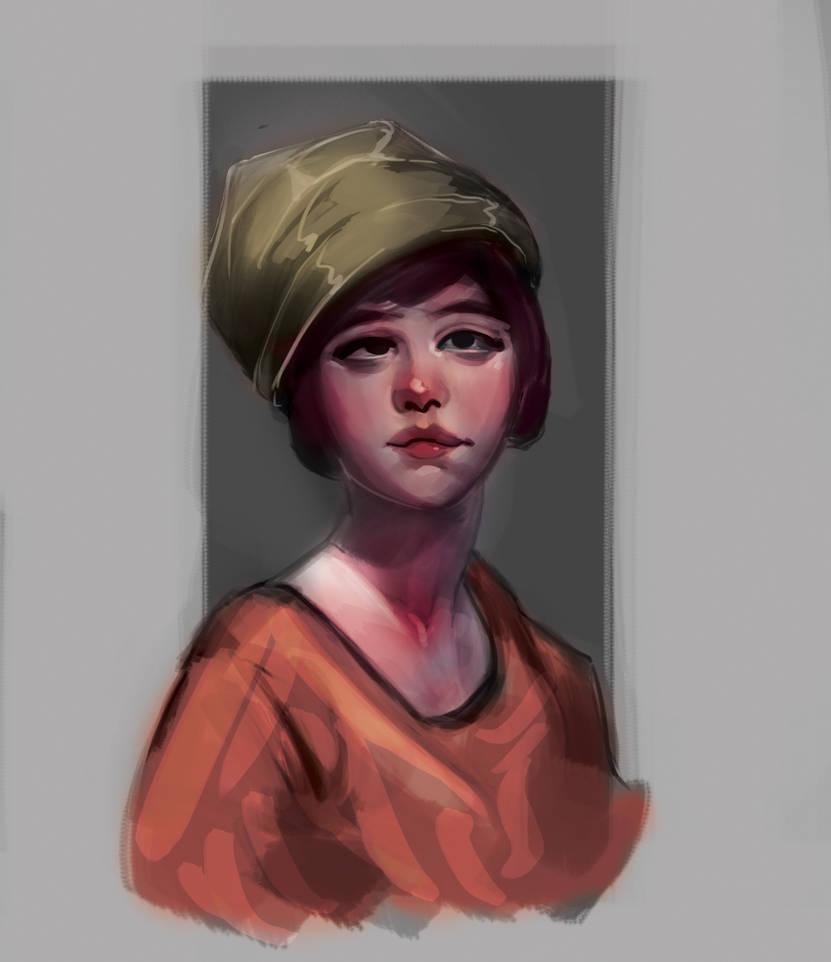 Portrait study by KishoreDraws