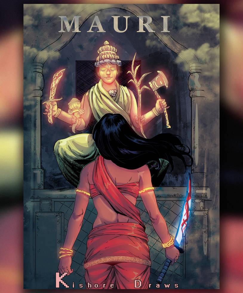 Mauri novel cover by KishoreDraws