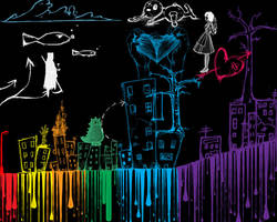 Rainbow City by JadeEatCupcake