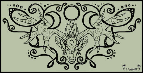 [C] Wiccan Stag Knotwork by GrimmuzA