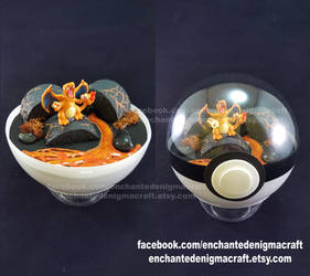 Charizard Pokemon Diorama Ball by enchanted-enigma