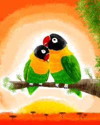 Lovebirds by Mikartturi