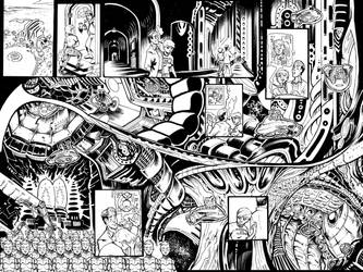 Goldfinch Double Page Spread by BrattyBen