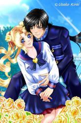 Usagi and Seiya by Usako-Kirei