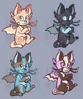 Kitten Dragon Adotables by Lucheek